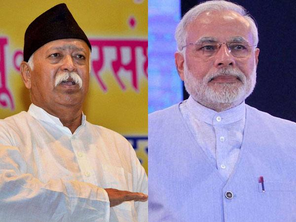 Mohan Bhagwat and Narendra Modi