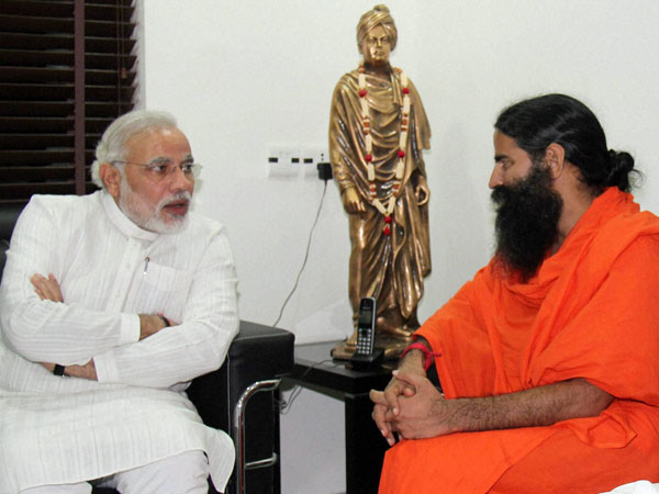 Narendra Modi and Baba Ramdev