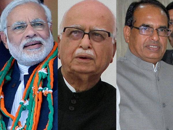 Poll: Both Modi, Chouhan bid for Advani