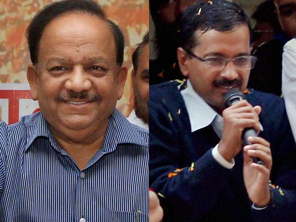 Harshvardhan takes on AAP, Kejriwal