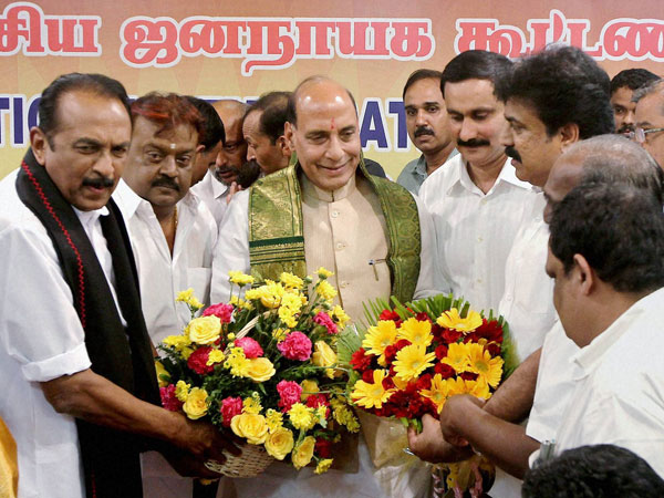 BJP teams up with DMDK, PMK, MDMK