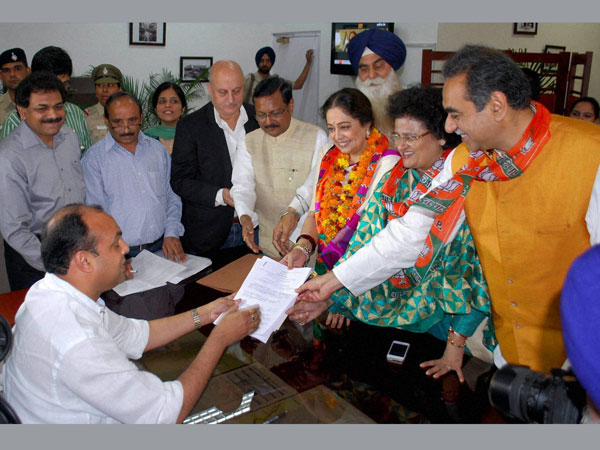 Kirron Kher files her nomination
