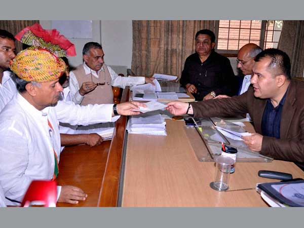 Rao Inderjit Singh files his nomination