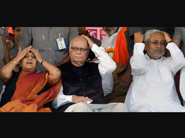 BJP leaders with Nitish Kumar