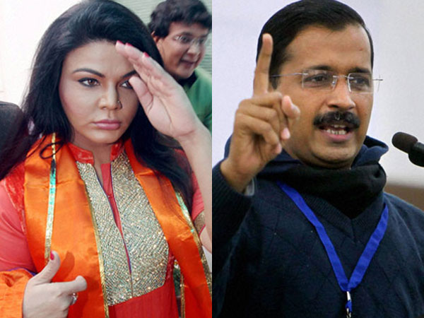 "Rakhi Sawant challenges Arvind Kejriwal, calls him ""item boy"" of politics"