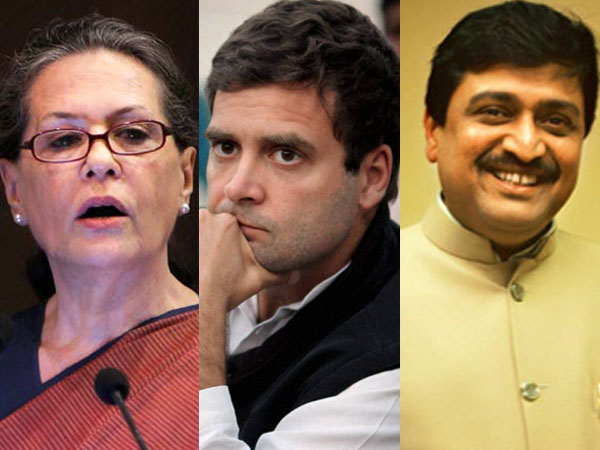 Sonia, Rahul and Ashok Chavan