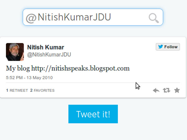 Nitish Kumar is the chief minister of Bihar.