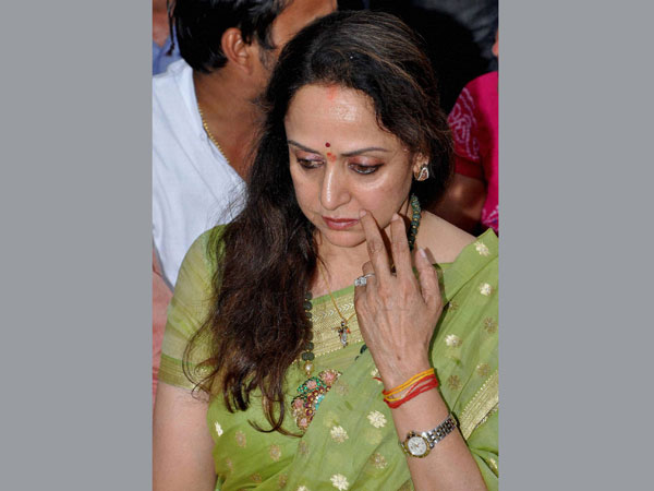 Hema Malini during the inauguration of her election office