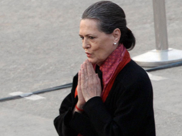 Sonia Gandhi in Delhi on Mar 30