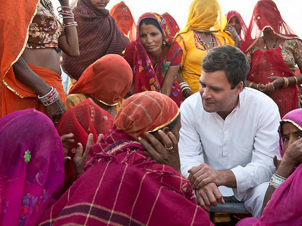 Rahul interacts with tribals in MP