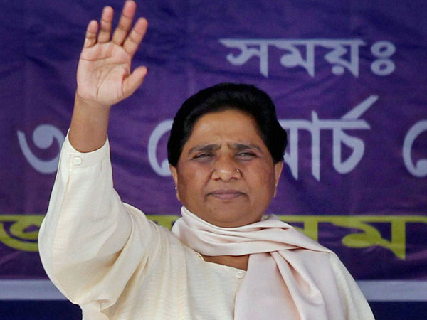 BSP Supremo Mayawati during her party workers