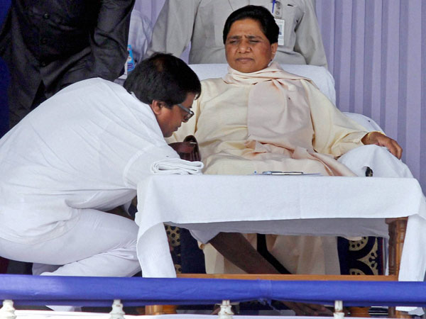 Mayawati during her party workers convention