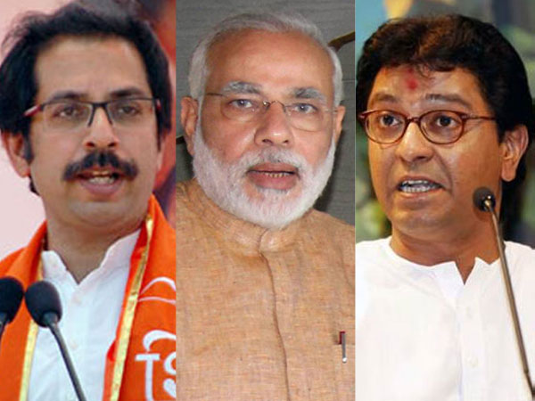 Uddhav Thackeray, Modi and Raj Thackeray