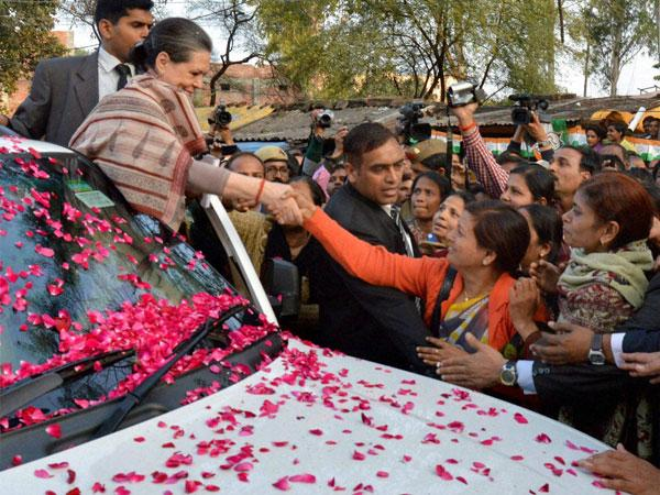 Congress president Sonia Gandhi files nomination at Rae Bareli