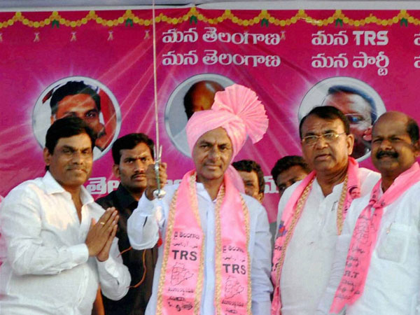 TRS President K.Chandra Sekhar Rao during election campaign