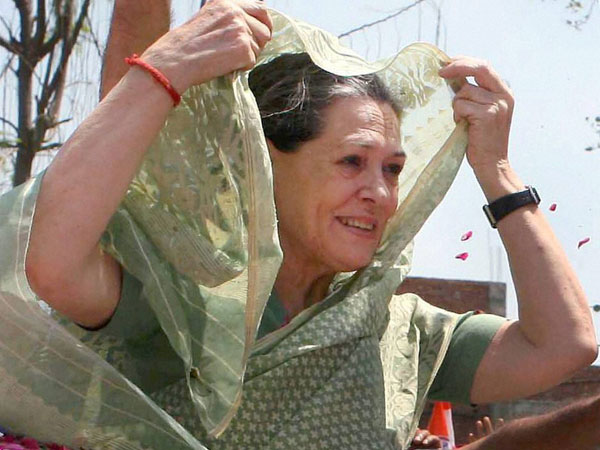 Congress President Sonia Gandhi during her nomination