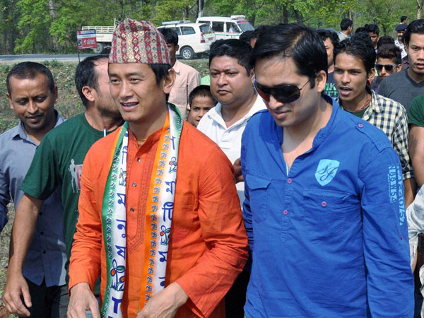 Baichung Bhutia during his election campaign