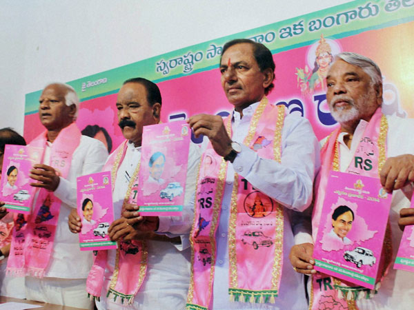 Chandra Sekhar Rao with party leaders