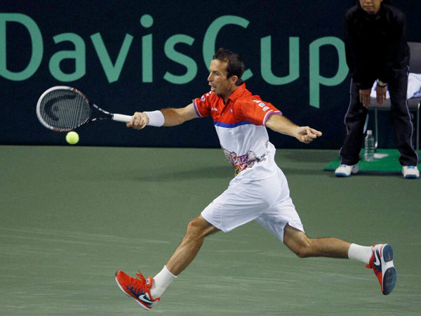 Stepanek in action