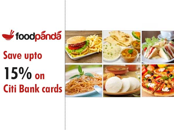 FoodPanda offers Save upto 15% on Citi Bank cards
