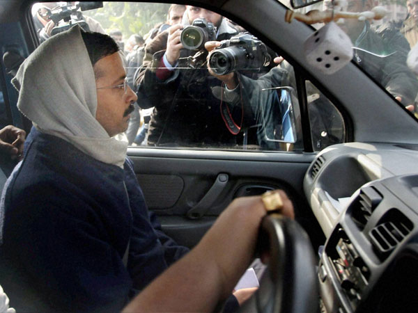 Kejriwal's car a lucky charm for AAP