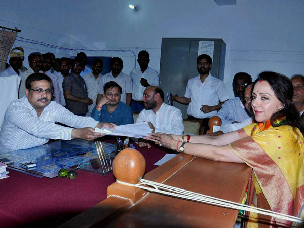 Actress Hema Malini files nomination