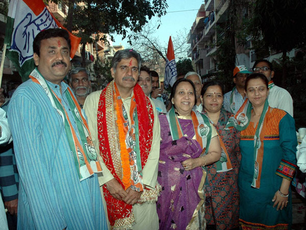 East Delhi Sandeep Dikshit during an election campaign