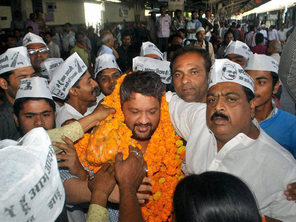 Adarsh Shastri, AAP candidate for Allahabad seat