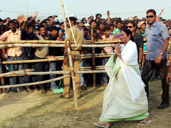 WB CM and TMC supremo Mamata Banerjee during an election campaign