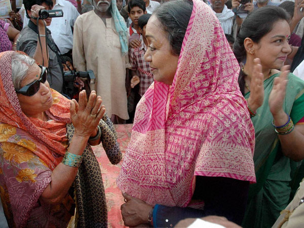 Meira Kumar during the election campaign at Sasaram