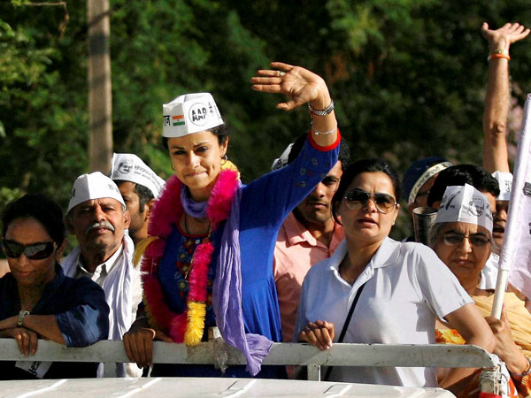 Gul Panag during her election campaign