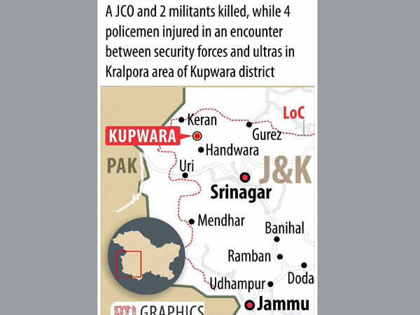 JCO, two militants killed in encounter