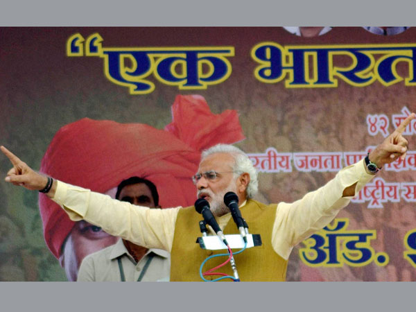Narendra Modi addresses rally in Solapur