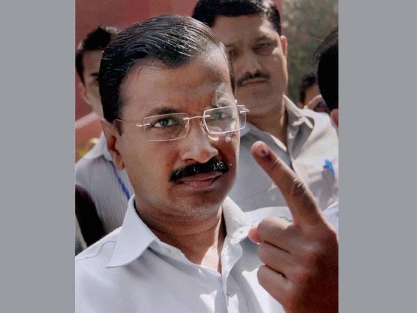 Kejriwal vote in Delhi