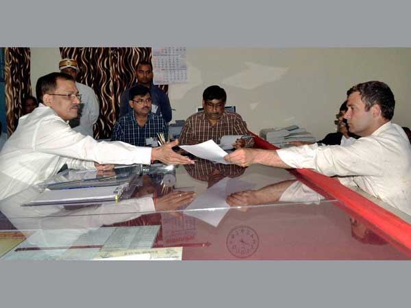 ahul Gandhi files his nomination papers for Amethi
