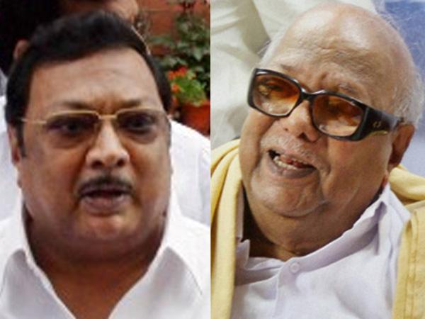 Alagiri and Karunanidhi