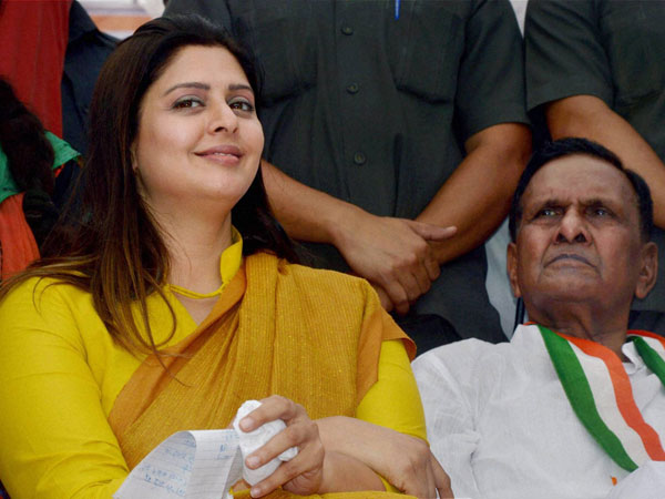 Actress and Congress candidate from Meerut Nagma
