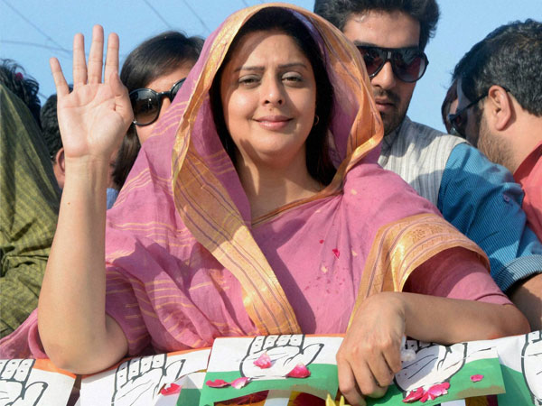 Nagma campaigns for party candidate Sanjay Kapoor