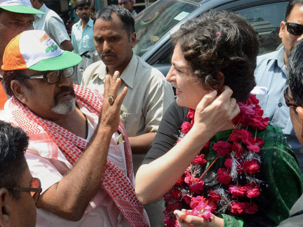 Priyanka Vadra during election campaign