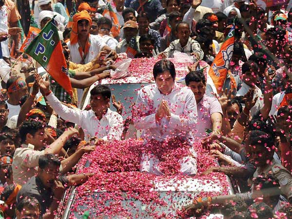 Varun Gandhi's nomination filing procession in Sultanpur