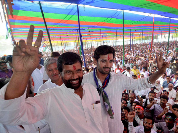 Ramvilas Paswan and party's candidate from Jamui