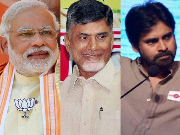 Modi, Chandrababu, Pawan