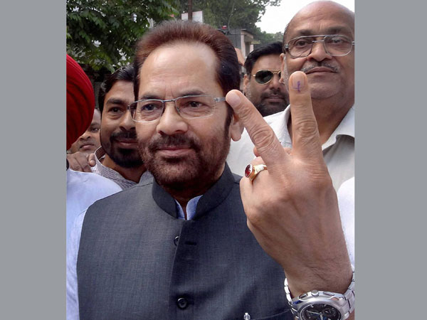 Abbas Naqvi after casting his vote