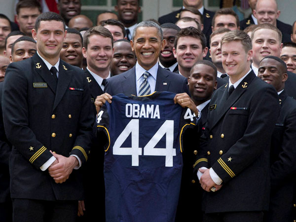 That's my jersey says Obama