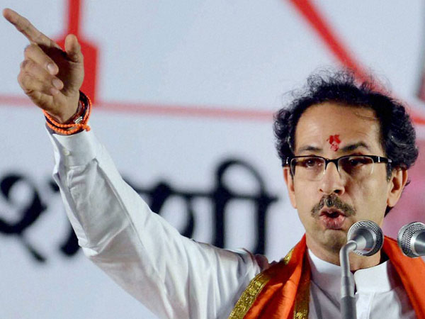 Uddhav Thackeray addresses an election campaign rally