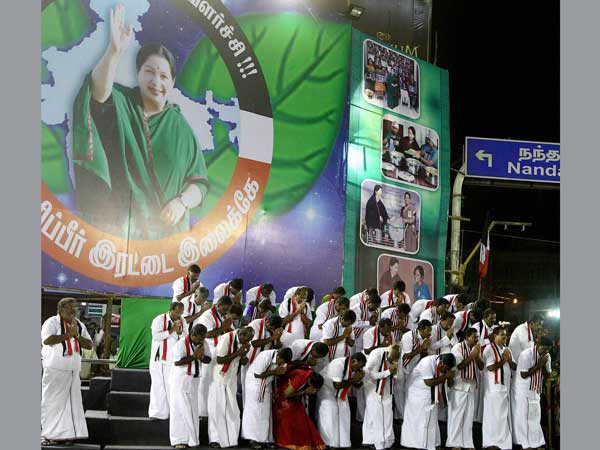 Jayalalithaa's election campaign rally at T Nagar