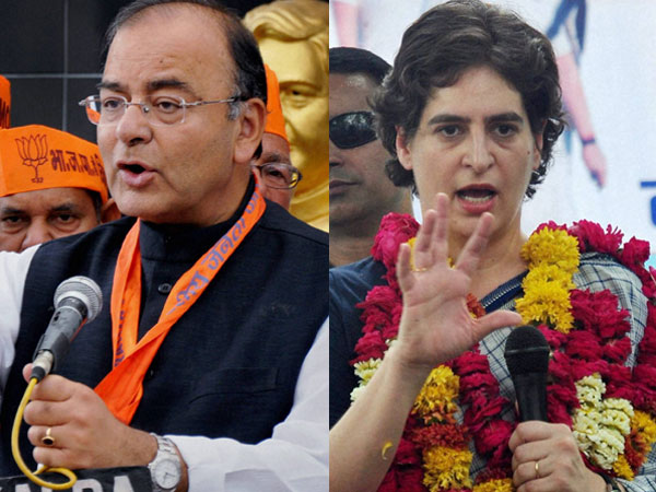 Arun Jaitley takes on Priyanka Gandhi