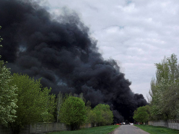 Ukrainian troops attack Slovyansk