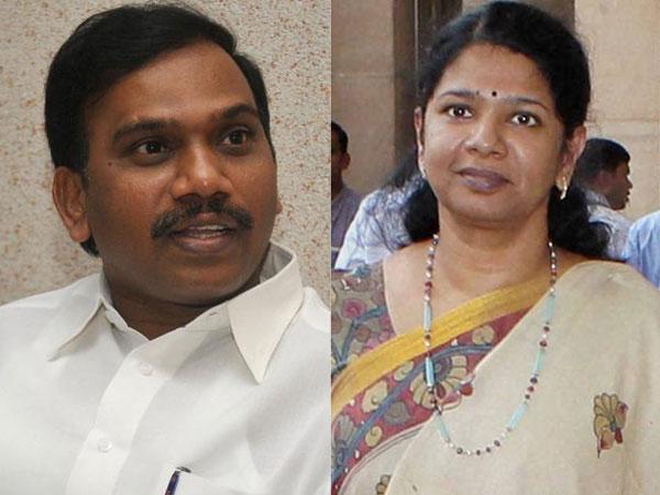 Raja and Kanimozhi