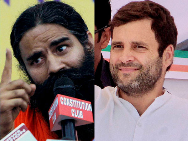 Ramdev and Rahul Gandhi